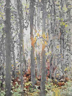 """Saatchi Online Artist Ursula Blancke Dau; Painting, """"Woodland No.2"""" #art"""
