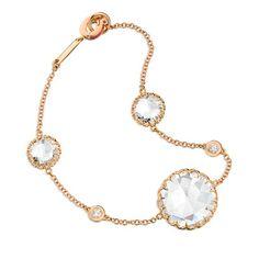 Ivanka Trump Bracelet in Rose Gold with Rock Crystal & Diamonds!