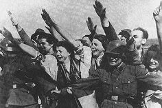 Sudeten Germans greeting the Fuehrer at the end of 1938 In the Czech Republic there were more than two million Germans, many of whom would like to live in a part of Nazi Germany. World History, World War, Munich Agreement, German Women, Wwii, Czech Republic, Hate, Germany, The World