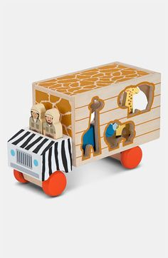 Melissa & Doug 'Animal Rescue' Shape Sorting Wooden Truck Toy available at #Nordstrom