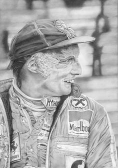 Ladies and gentleman welcome to the world of Daniel Yates. Take a look at these incredible Drawings depicting heroes of the past. James Hunt, Belgian Grand Prix, Lady And Gentlemen, Pencil Art, Osaka, Figure Drawing, The Past, The Incredibles, Statue