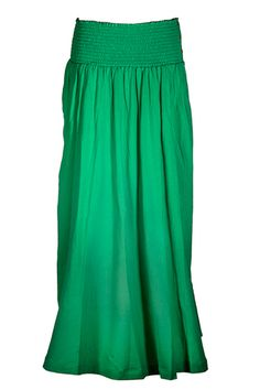 great emerald green maxi. wear with a white tshirt or black tank and large beads or layers of chains, gladiator sandals, maybe a straw fedora or cowboy hat? Wanty