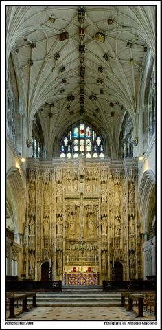 Interior of Winchester Cathedral - Hampshire, England