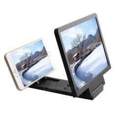 "8.2"" 2~3X Magnification Foldable Anti-Radiation 3D Video Screen HD Magnifier w/ Phone Holder - Black From 12,95 for Euro 8,45"