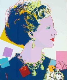 artnet Galleries: Queen Margrethe II of Denmark by Andy Warhol from DTR Modern Galleries