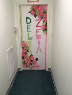 Delta Zeta Sorority Door Decorations