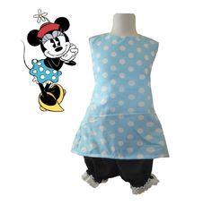 Vintage Minnie Disney Theme Spring/Summer halter back bloomer dress set 1-5T #Handmade #Everyday