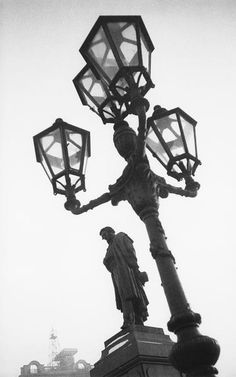 Russian photography. Alexander Rodchenko. Monument to A. S. Pushkin, famous Russian poet, in Moscow. 1930. #history #Russian #photography