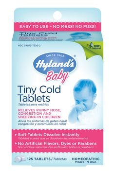 Baby Tiny Cold Tablets. Best things ever!! They really do help.