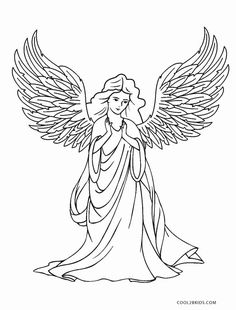 Free Angel Coloring Page Christmas Simple, Download Free Clip Art ... | 310x236