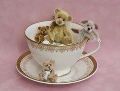 Teddies in a teacup -- My cup of tea...
