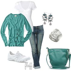Casual outfit ~ Green Weekend