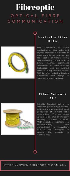 Fibre Optic Systems(FOS) is a fibre optic supplier & manufacturer in Australia, specialising in fibre optic cords, cables & fibre optic test equipment Fiber Optic, Communication, Connection, Daisy, Cable, Simple, Link, Cabo, Daisies