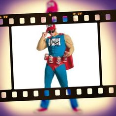 Who doesn't love Duffman from The Simpsons. He even comes with a beer belt drink holder. Hire him from us at Costume Bazaar or we can get one in for you to buy if you like.