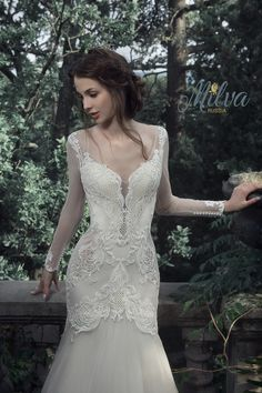 ISABELLE wedding dress by MILVA designer in Charme Gaby Bridal Gown boutique Tampa Bay $1300.00
