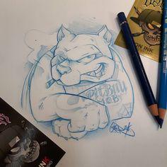 Pit bull sketchouille  #ozer #ozertattoo #ozergraffiti #ozerloveletters #ironink #ironinktattoo #nantes #naoned #tattoo #tatouage #graffiti #loveletters