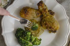 Pollo en pepitoria en thermomix 21 - Las Recetas de Guada Broccoli, Meat, Chicken, Vegetables, Food, Crock Pot, Recipes, Restaurants, Thermomix
