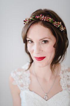 Braut Frisur kurze Haare, Braut Herbsthochzeit Styling