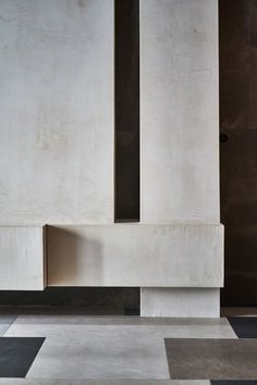 View the full picture gallery of Sculpture Of Materials Architecture Details, Interior Architecture, Joinery Details, Geometric Sculpture, Cement Walls, Conceptual Design, Interior Photo, Stone Tiles, Wall Design
