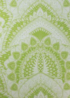 Lime Azari Wallpaper - Wallpaper - Matthew Williamson