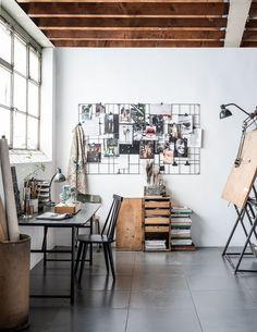 Trendy Home Studio Design Ideas Home Office Inspiration, Workspace Inspiration, Office Ideas, Inspiration Boards, Design Inspiration, Creative Inspiration, Art Studio Room, Art Studio At Home, Studio Table