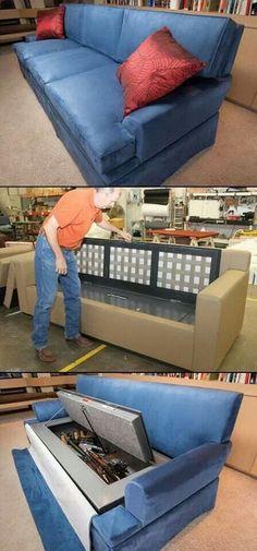 Gun case couch