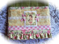 Shabby Chic kitchen towel. How gorgeous is this! www.embellishedtowels.com