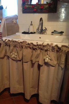 sottolavello chiuso da tendina in tessuto | Idee per la casa nel ...