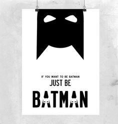 Batman Superhero Illustration. Medium poster by ilovedesignlondon