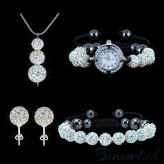 Shamballa Uhr- Schmuckset in kristallsilber - http://bramel.ch/accessoires-shop/armband/shamballa-uhr-schmuckset-in-kristall-silber/ http://bramel.ch/wp-content/uploads/2014/04/Shamballa-Uhr-Schmuckset-in-Kristall-Silber-600x600.jpg