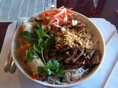 Vietnamese noodle bowl (bun-dac-biet)