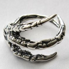 Sterling Silver Raven Claw Ring - Bird Crow Corvid - Moon Raven Designs
