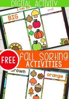 Digital Sorting Activities for Preschoolers