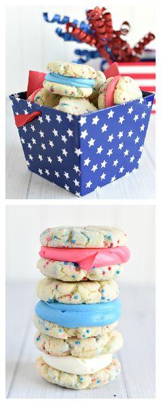4th of July Dessert-Patriotic Whoopie Pies – Fun-Squared