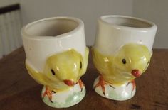 Two Little Chick Egg Cups