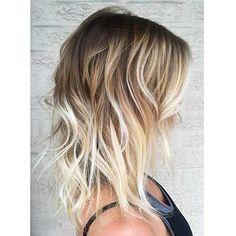 Balayage Hair Color Ideas for Short Hair – Stylish Hairstyles Hair Color And Cut, Ombre Hair Color, Hair Color Balayage, Blonde Balayage, Ombre Style, Bayalage, Blonde Highlights, Medium Short Hair, Medium Hair Styles