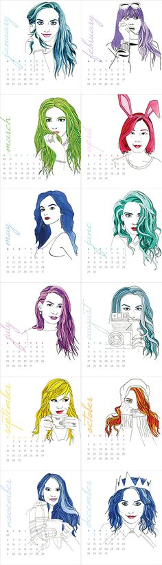 Illustrated 2015 Calendar - from www.brownpaperbunny.com