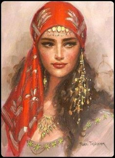 Image of a beautiful (true:) Gypsy Girl...(where part of my roots come from: Czechoslovakia/Bohemia...:)