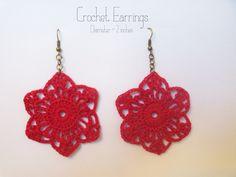dandelion sunrise: Crochet Earrings Pattern #2
