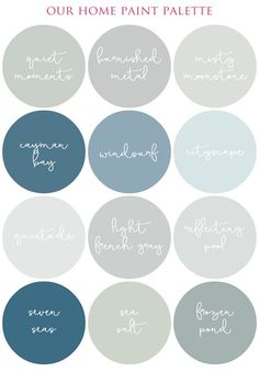 City Scape, Sea Salt, or Wind Surf for bathroom. Light French Grey or Moonstone for Living Room & Kitchen