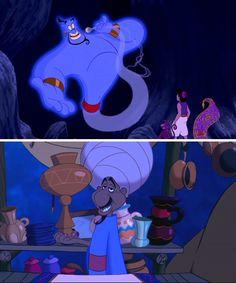 Aladdin's Genie and the salesman are the same person