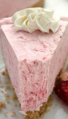 No Bake Strawberry Cheesecake - Use GF Graham Crackers