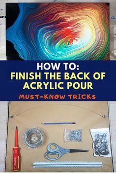 Finish the BACK of the Canvas for Acrylic Pour Painting - Detailed Guide from Smart Art Materials wi Pour Painting Techniques, Acrylic Pouring Techniques, Acrylic Pouring Art, Painting Lessons, Fluid Acrylic, Acrylic Canvas, Painting Canvas, Flow Painting, Acrylic Painting Tutorials