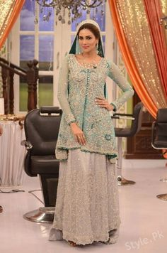 6bb3437b6c Fiza Ali in Bridal Dresses at Good Morning Pakistan - Latest Bridal Fashion  Latest Bridal Dresses
