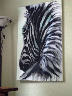 hand textured/stained charcoal Zebra~ 'No Looking Back' by: Living Tones . - hand textured/stained charcoal Zebra~ 'No Looking Back' by: Living Tones … - Zebra Painting, Zebra Art, Fantasy Paintings, Animal Paintings, Acrylic Artwork, Wildlife Art, Horse Art, African Art, Art Techniques
