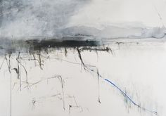 Hannah Woodman,'Shoreline',Gesso and Oil on paper