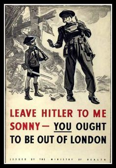 WWII  British London AirRaid Poster  Print by BloominLuvly on Etsy, $9.95