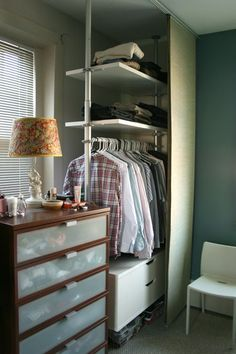 Before & After: Hiding the Great Wall of Clothes
