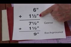 Perfect flying geese tutorial. From quilt in a day Geese In The Garden video.Minute 22                                                                                                                                                      More