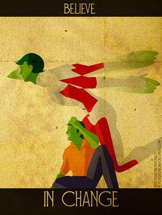 Inspirational Superhero Posters by Kerrith Johnson